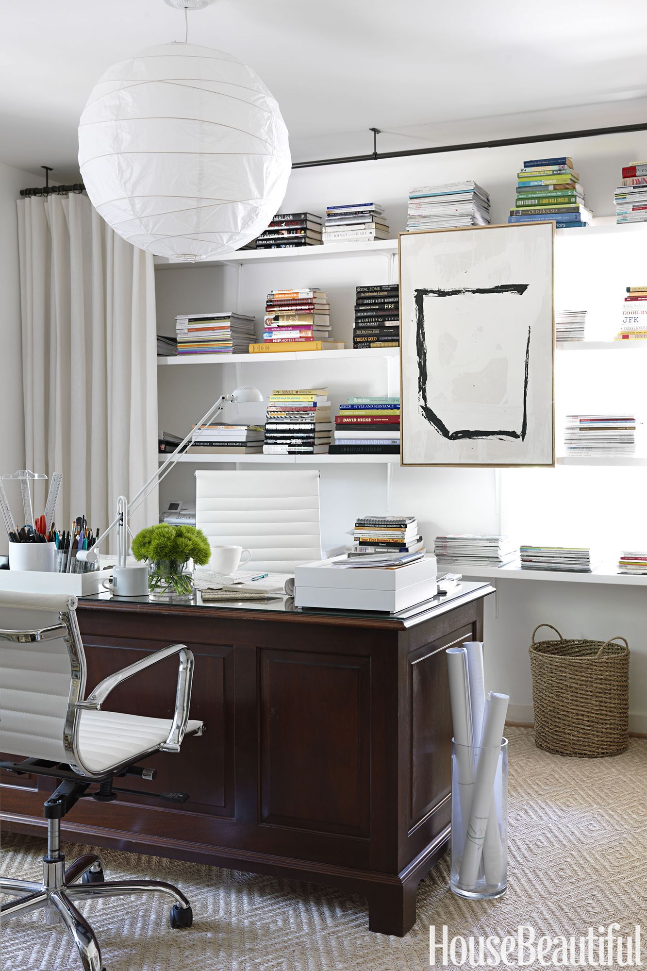 12 Home Office Organization Ideas - How to Organize an Office