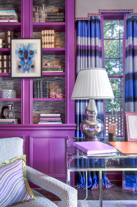 Lindsey C Harper Purple Bookcase