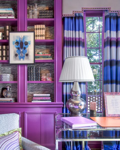 Lindsey Coral Harper Purple Bookcase