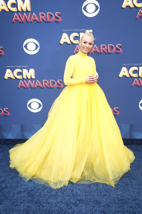 Lindsey Vonn Is Almost Unrecognizable on the ACM Awards 2018 Red Carpet