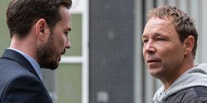 Line of Duty season 5: Steve Arnott (Martin Compston) and John Corbett (Stephen Graham)