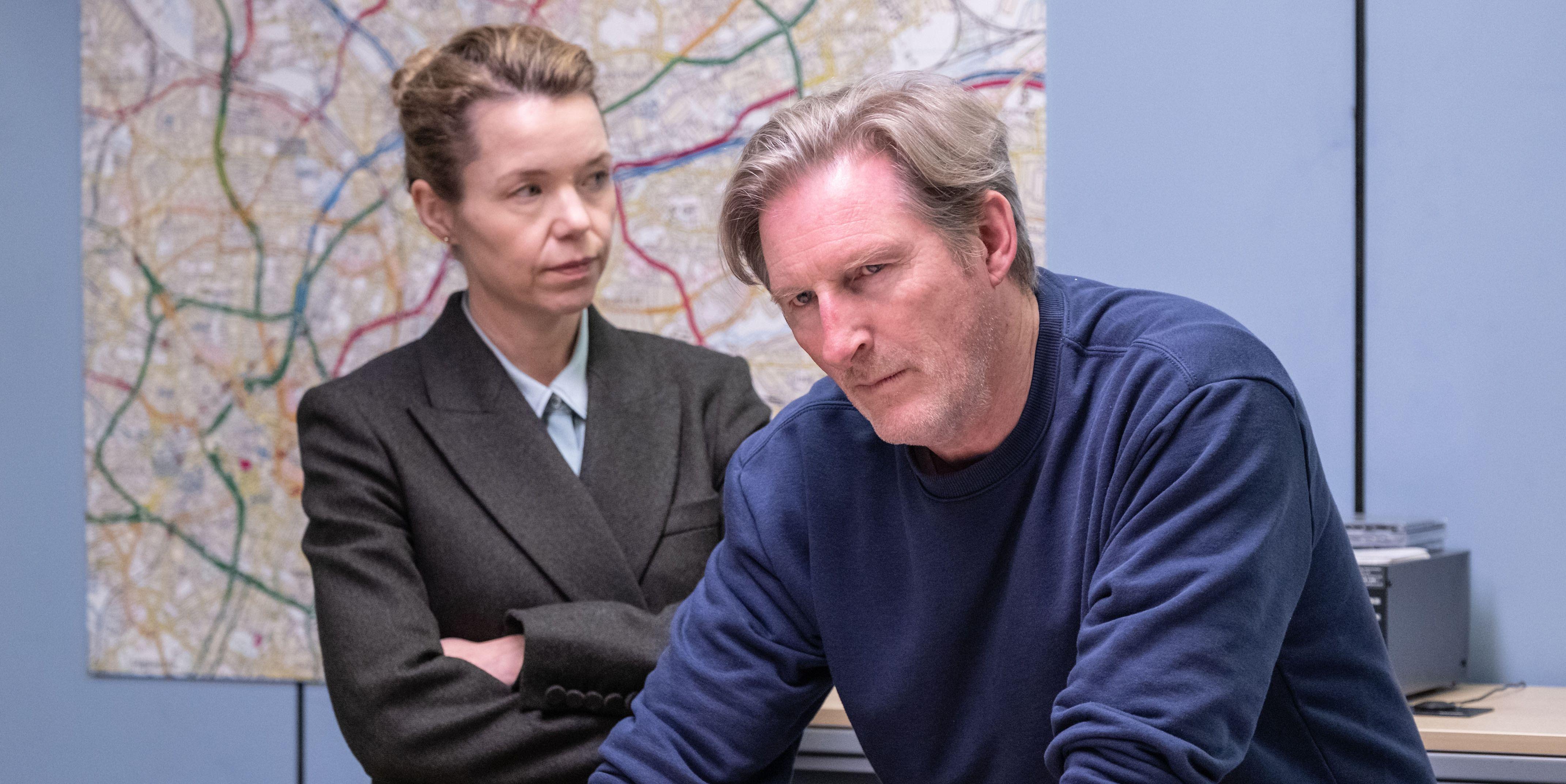 Carmichael (ANNA MAXWELL MARTIN), Hastings (ADRIAN DUNBAR) in Line of Duty season 5, episode 6