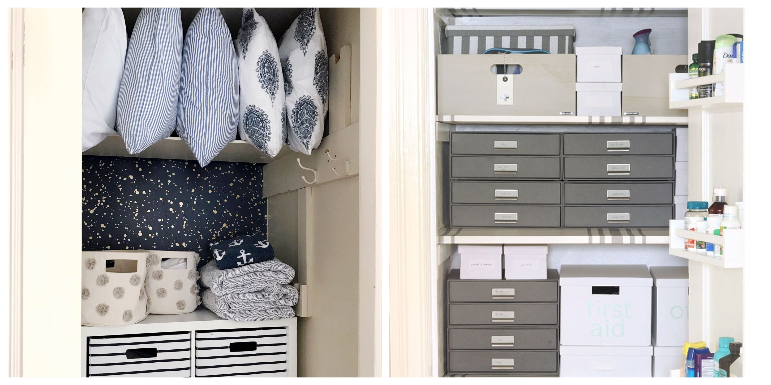 13 Easy and Affordable Ways to Organize Your Linen Closet