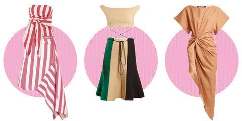 Clothing, Dress, Pink, Fashion, Sarong, Costume design, Outerwear, Costume, Fashion design, Peach,