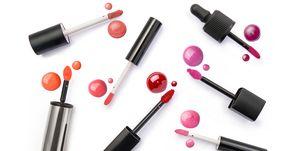 Lip gloss applicator and drops