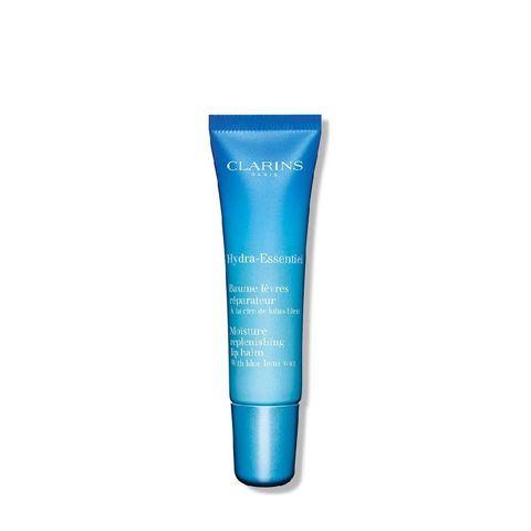 clarins   hydra essentiel moisture replenishing lip balm with blue lotus wax