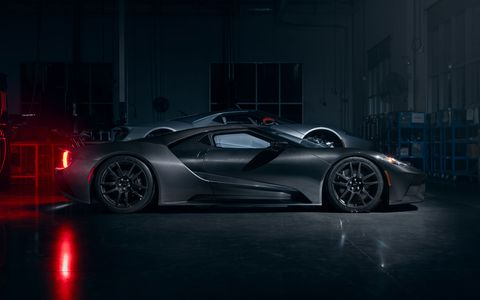 2020 Ford GT Liquid Carbon series shows exposed composite construction