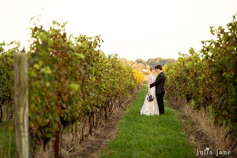 Saltwater Farm vineyard wedding