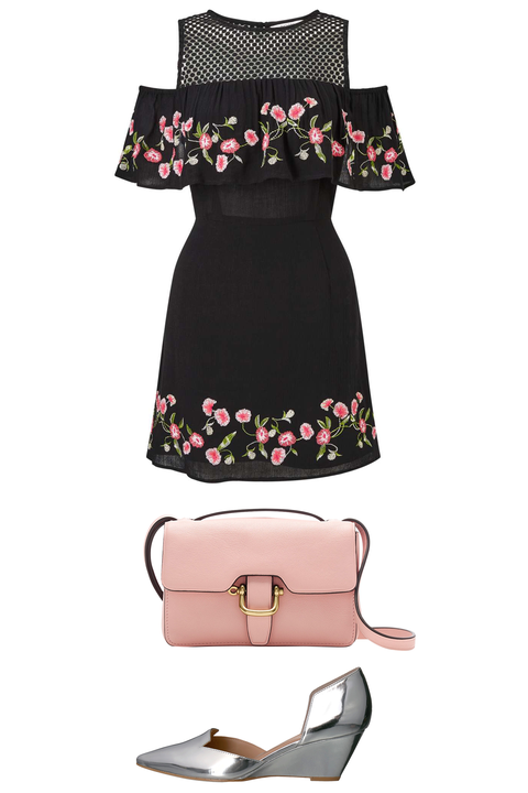 Pink, Clothing, Dress, Product, Footwear, Day dress, Cocktail dress, Fashion accessory, Little black dress, Sleeve,