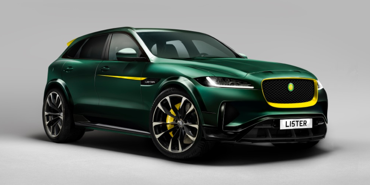 lister is turning the jaguar f pace into the world 39 s fastest suv. Black Bedroom Furniture Sets. Home Design Ideas