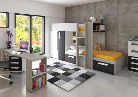 Litera con muebles extraíbles