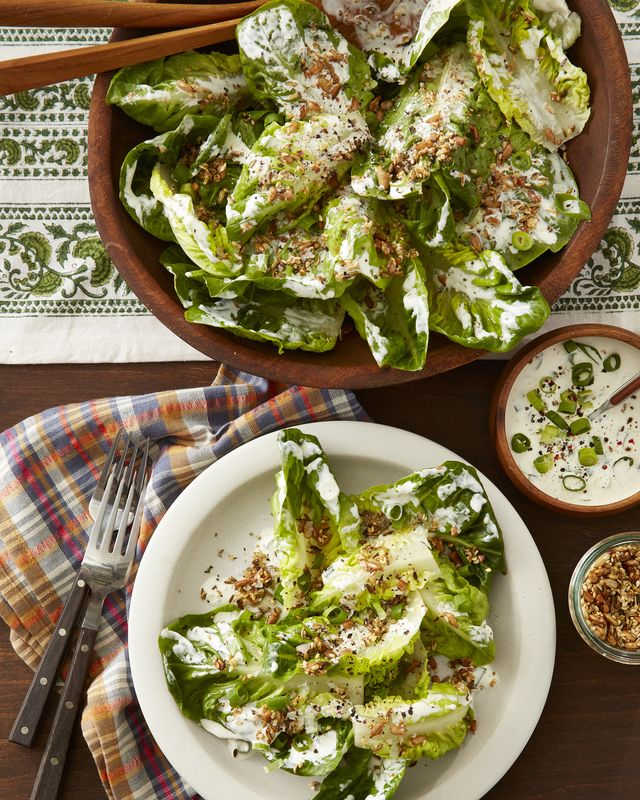 little gem lettuce with mixed seed sprinkle