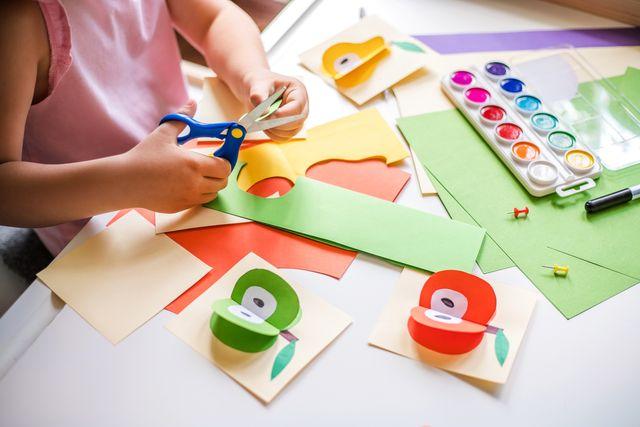 organizzare i lavoretti dei bambini