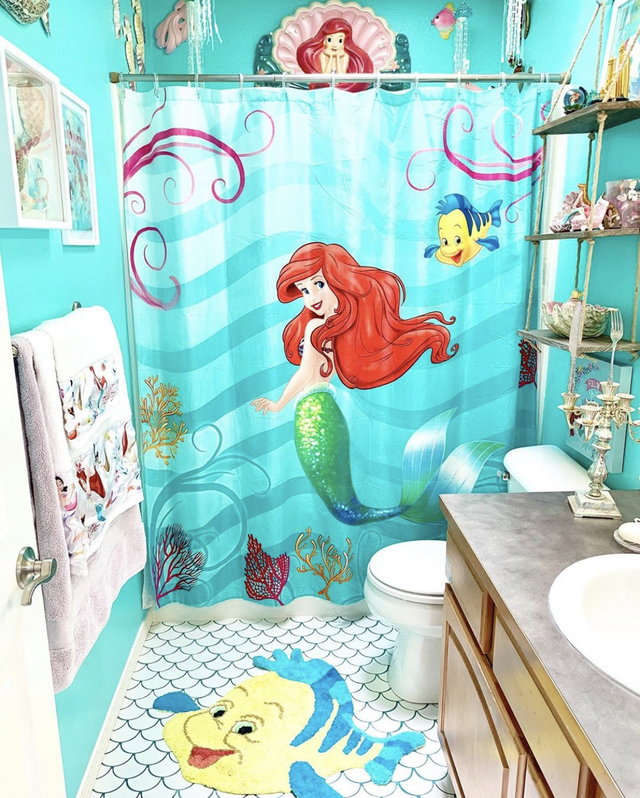little mermaid themed bathroom