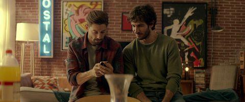Adrián Lastra y Quim Gutiérrez hablan en la películaLitus