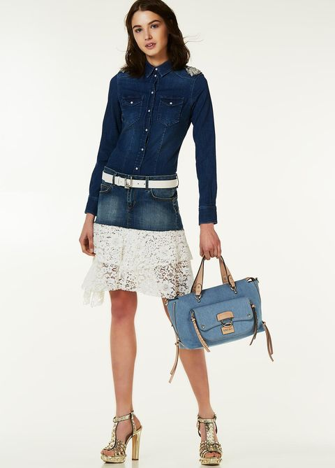 Denim, Clothing, Fashion model, Jeans, Blue, Fashion, Waist, Shoulder, Electric blue, Footwear,
