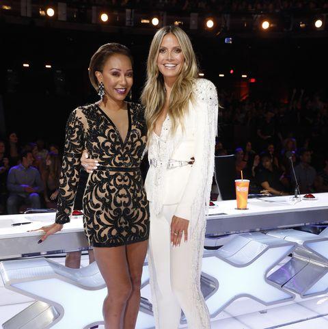 Heidi Klum and Mel B America's Got Talent - Season 13