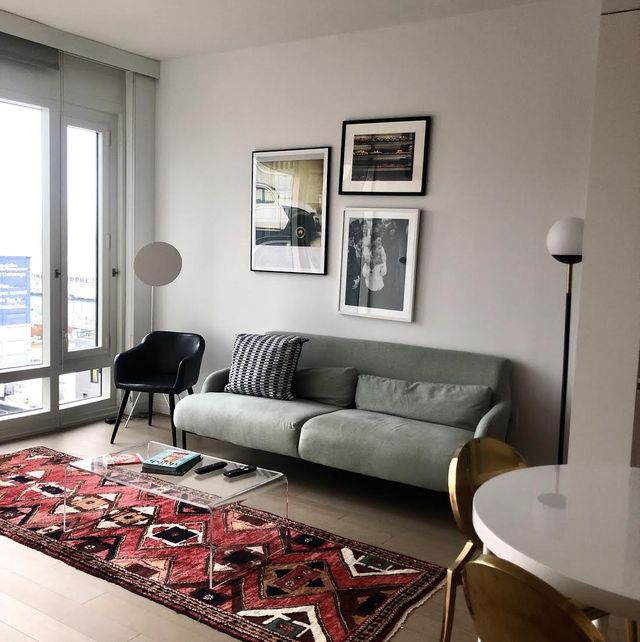 living room in a sonder apartment in new york