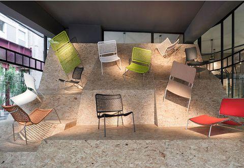 Interior design, Furniture, Design, Stairs, Armrest, Daylighting, Outdoor furniture,