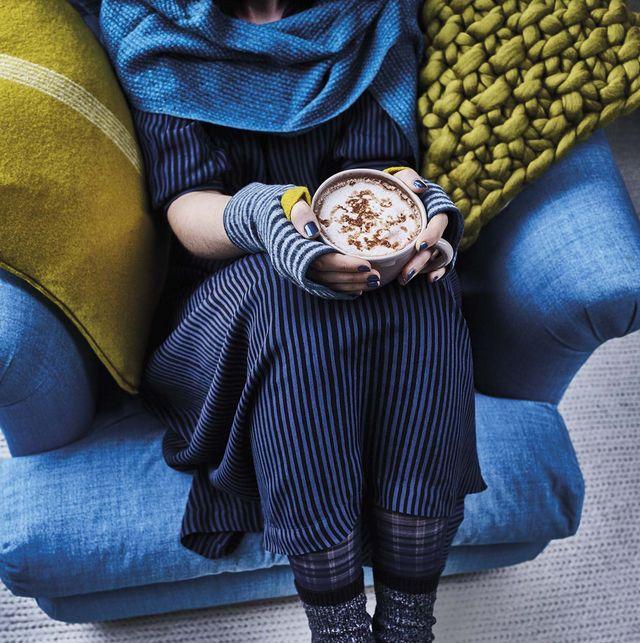 tendencias decorativas textiles azules