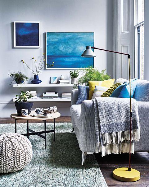 tendencias decorativas salón en azules