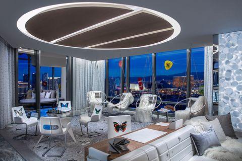 Ceiling, Interior design, Building, Room, Property, Lighting, Architecture, Living room, Real estate, Design,