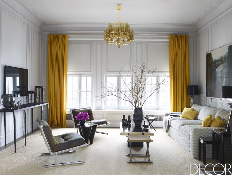 Elle Decor & Living Room Color Palette Ideas - How to Use Color in a Living Room