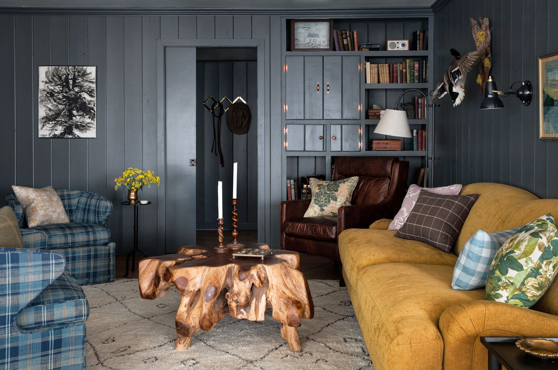 living room colors heidi caillier design seattle interior designer the cabin and the snug modern traditional dark walls living room