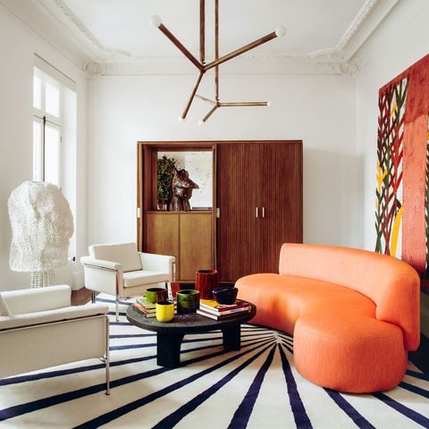 living room in a paris apartment by studio rmgb