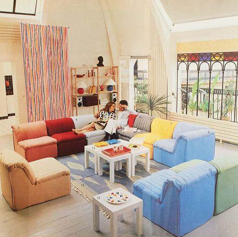 phòng khách trong suốt những năm 1980