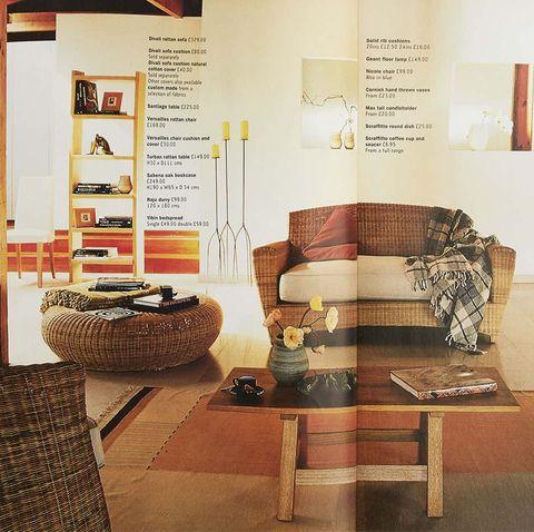 phòng khách trong suốt những năm 1990