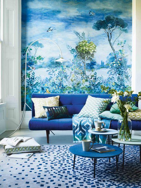 Wallpaper Designs For Living Room: Nature Inspired Wallpaper Murals