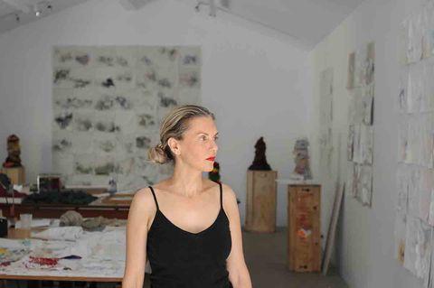 Shoulder, Room, Neck, Dress, Fashion design,