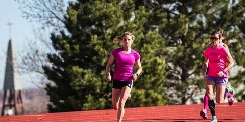 Liz Costello training in Boulder, Colorado