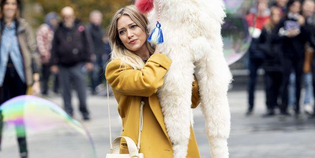 white, street fashion, fashion, fur, yellow, snapshot, fun, footwear, winter, headgear,