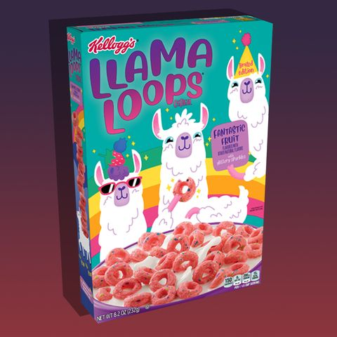 Kellogg's Llama Loops cereal