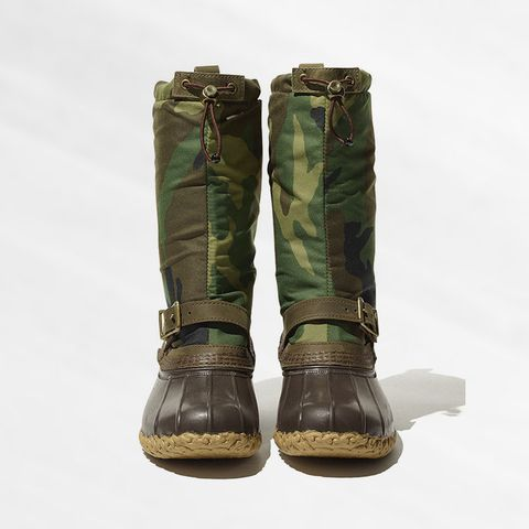Boot, Khaki, Military camouflage, Beige, Brass, Costume accessory, Camouflage, Bronze, Motorcycle boot,