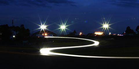 Night, Street light, Sky, Light, Lighting, Light fixture, Water, Road, Infrastructure, Tree,
