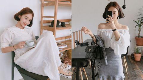 White, Shoulder, Clothing, Dress, Fashion, Joint, Fashion design, Fashion accessory, Neck, Fashion model,