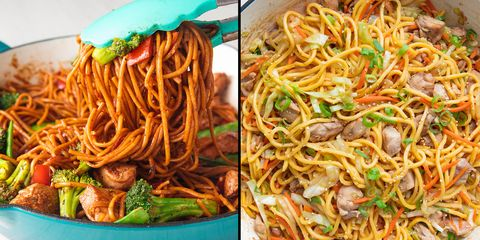 chow mein, lo mein