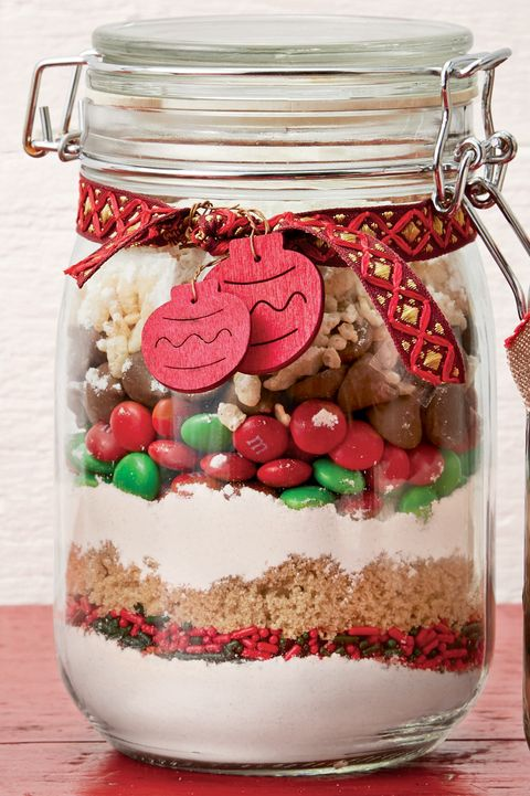 loaded holiday cookie mix jar