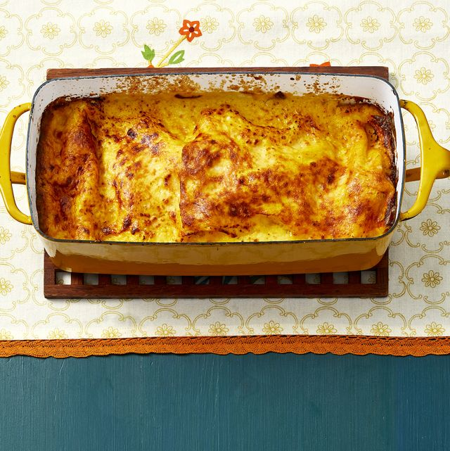 loaf pan lasagna with butternut squash and sausage