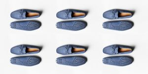 Loafers, blauwe loafers