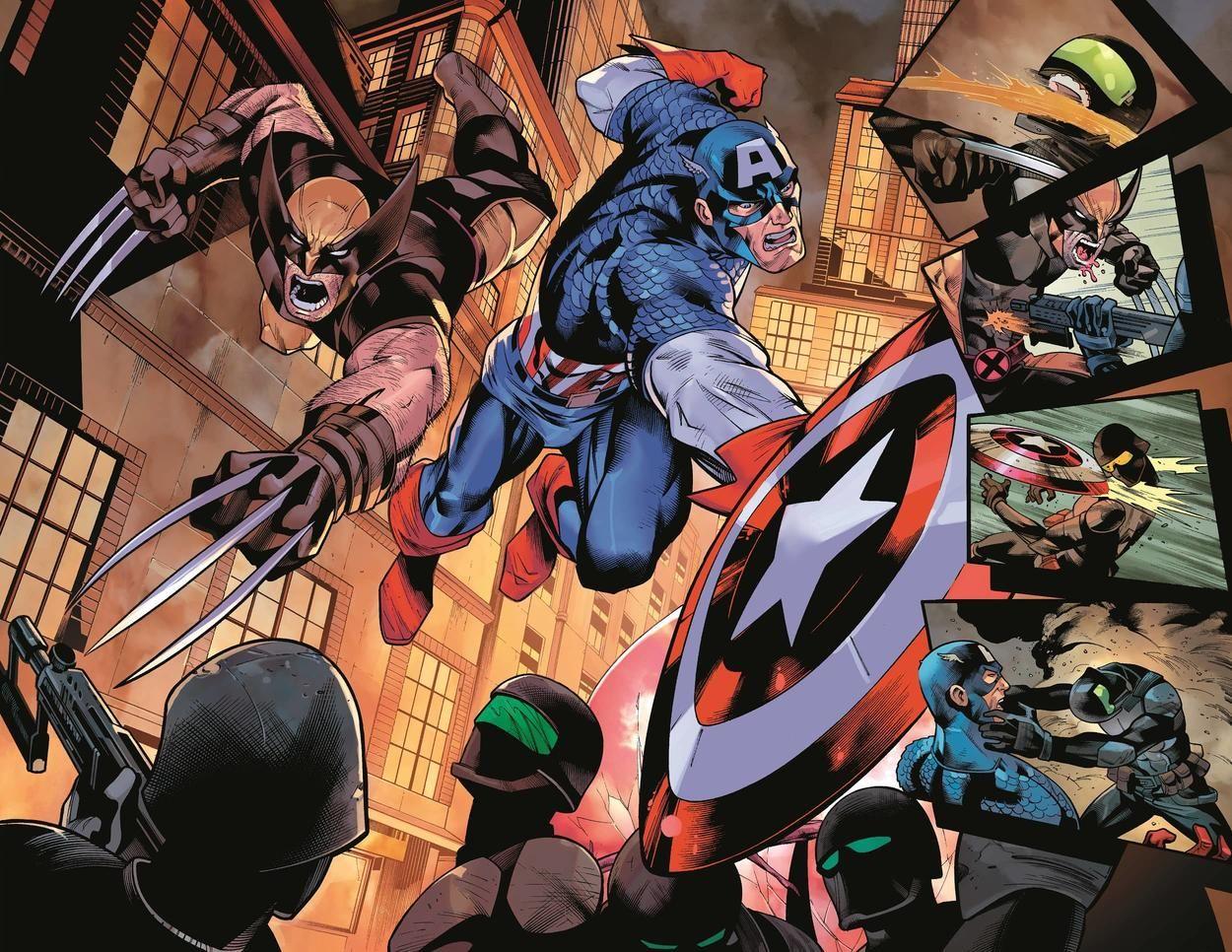 Marvel Cómic Capitán América y Lobezno - Estrenos Marvel