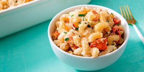 Dish, Food, Cuisine, Ingredient, Macaroni and cheese, Macaroni, Tuna casserole, Produce, Comfort food, Staple food,