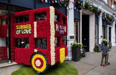 Local Businesses Support The Chelsea Flower Show With Floral Displays