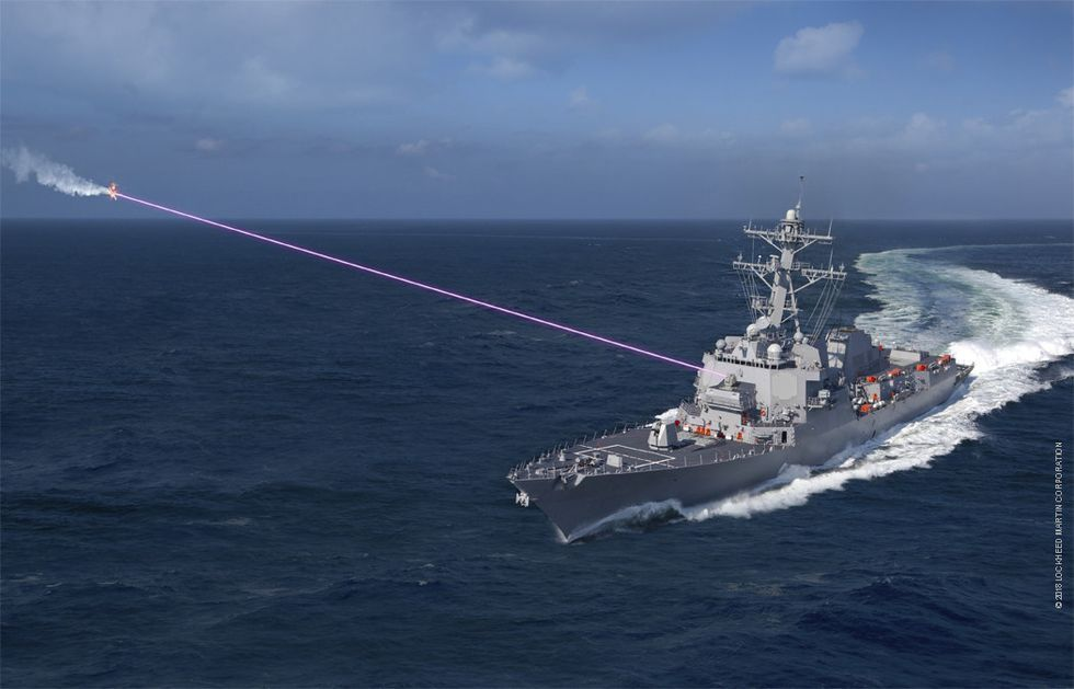 The Navy Plans to Put HELIOS Laser Weapon on Destroyer by 2021