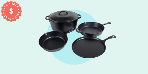 Lodge's 5-Piece Cast-Iron Cookware Set Is Under $100 Today