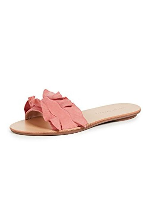 Footwear, Pink, Sandal, Shoe, Beige, Flip-flops, Slipper, Leather,