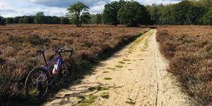 Gravelroute-Loenermark-specialized-fietsen-heide-zand-bos